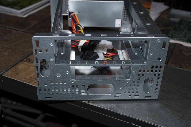 View of front without the audio/USB cage
