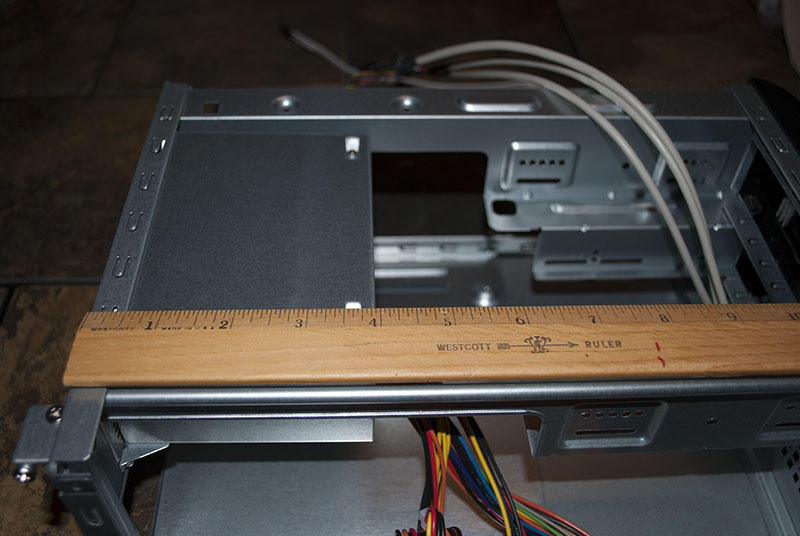 View of the size of the power supply unit