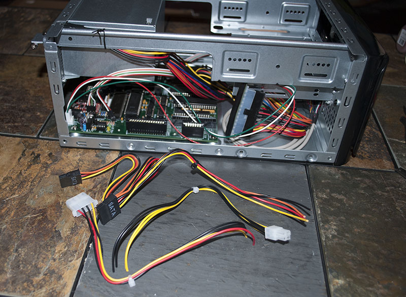 Cut cables from the power supply