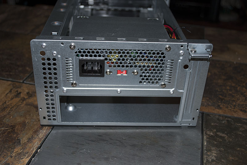 Rear view of the case