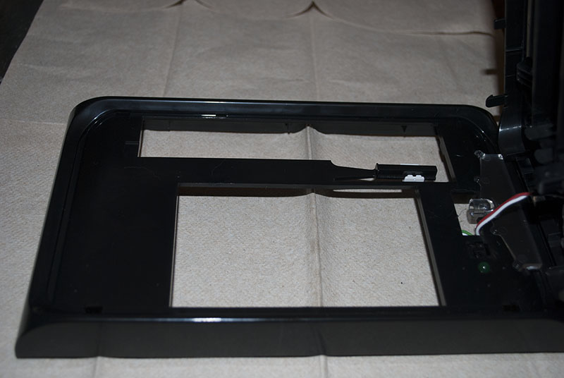 View of the front facing second bezel part.